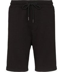 moncler logo patch side-zip shorts - black