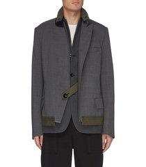 panelled double blazer jacket
