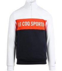 sweater le coq sportif essentiels saison sweat 1/2 zip
