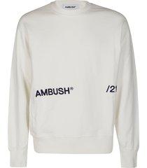 ambush ecru cotton sweatshirt