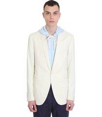 lanvin blazer in white wool