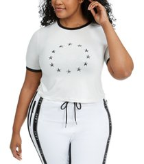 lala anthony trendy plus size star-print t-shirt, created for macy's