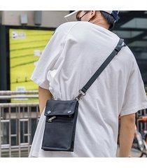 borsa a tracolla della borsa della moneta della borsa del telefono della borsa a tracolla di stile di hiphop di oxford casuale per gli uomini