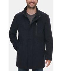 calvin klein men's long open bottom overcoat, created for macy's