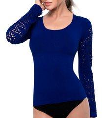 camiseta control anette azul tall