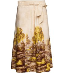 home skirt knälång kjol beige second female