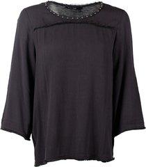 marc aurel dames blouses antraciet