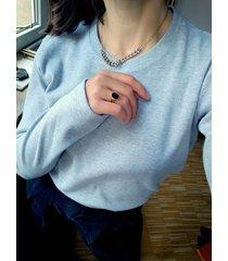 bluzka oslo crew neck szara longsleeve