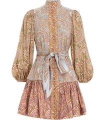 tempo button mini dress