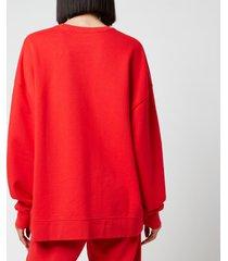 rotate birger christensen women's iris crewneck sweatshirt - flame scarlet - l