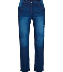 jeans biker in cotone con cinta comoda (blu) - bpc bonprix collection