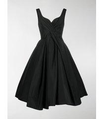 alexander mcqueen pleated full skirt midi dress