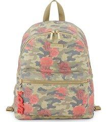 camo & rose print backpack