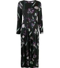 goat josephine foxglove print dress - black