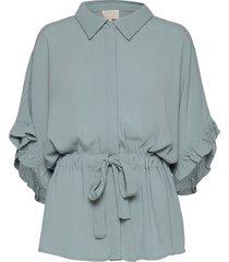 ariana shirt boozt blouses short-sleeved blå minus