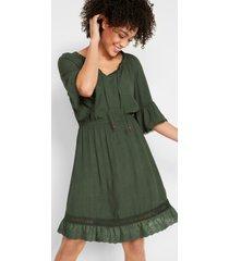 jurk met volantmouwen en kant