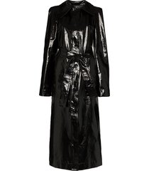 lemaire belted coated trench coat - black