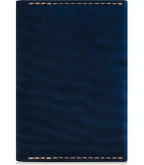 ezra arthur leather passport wallet in navy at nordstrom
