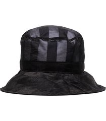 sunnei breton stripe bucket hat - black