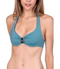 bikini lisca kea cheek ecologische omkeerbare halterzwembroek top met