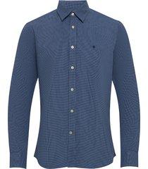 daniele classic collar shirt skjorta casual blå morris