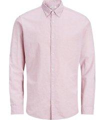 overhemd met lange mouwen katoen-linnen