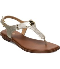mk plate thong shoes summer shoes flat sandals guld michael kors