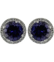 anna beth iolite stud earrings with diamond pave