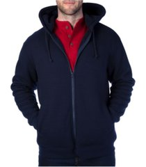 smith's workwear men's thermal knit henley hooded jacket