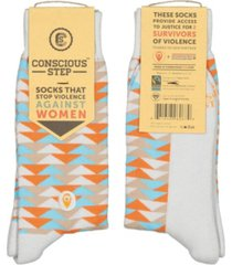 conscious step that stop violence against women socks