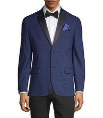 diamond-weave dinner jacket
