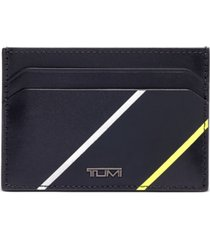 tumi men's money clip leather card case