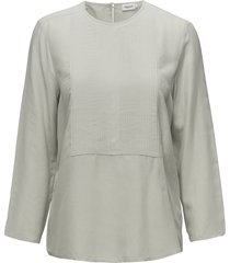 pleat blouse blouse lange mouwen groen filippa k