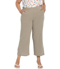 nydj gauze pull-on ankle wide leg pants, size 20w in wet sand at nordstrom