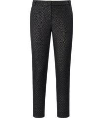enkellange broek met minimal-dessin van laura biagiotti roma zwart