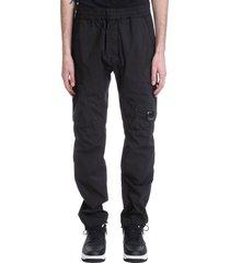 c.p. company pants in black synthetic fibers