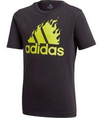 camiseta manga curta adidas jb bos graph preto - preto - menino - dafiti