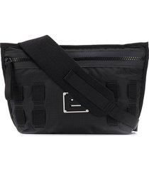 acne studios messenger pouch bag - black