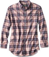 slub long-sleeved plaid shirt, red/navy, xx large