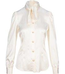 dolce & gabbana dolce & gabbana bow collar silk blouse