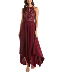 nightway lace fit & flare dress