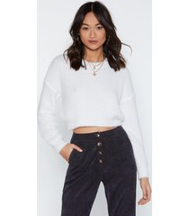 womens keep knit going cropped sweater - cream