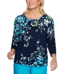 alfred dunner petite easy street cotton embellished sweater