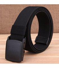 cinturón de hombres, cinturones tejidos de hombre-negro