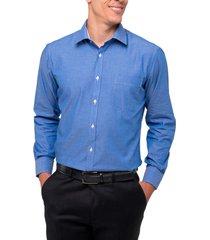 camisa formal azul print arrow