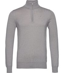 lane merino quater zip sweater knitwear half zip jumpers grijs j. lindeberg
