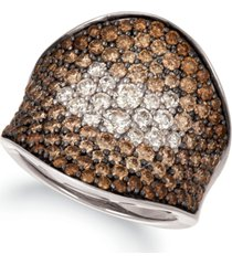 le vian chocolate & nude chocolate souffle chocolate diamond (2-5/8 ct. t.w.) & nude diamond (3/8 ct. t.w.) statement ring in 14k rose, yellow or white gold