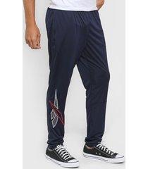 pantalón azul reebok cl d slim track