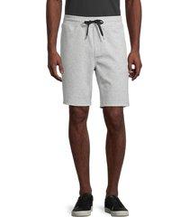 90 degree by reflex men's heathered drawstring shorts - heather grey - size m