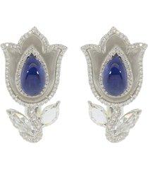aura burma sapphire tulip earrings